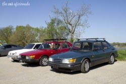 Louisville Cars and Coffee Cox Park Saab