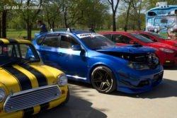 Louisville Cars and Coffee Subaru WRX Austin Mini
