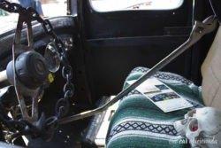 Beatersville rat rod pickup interior