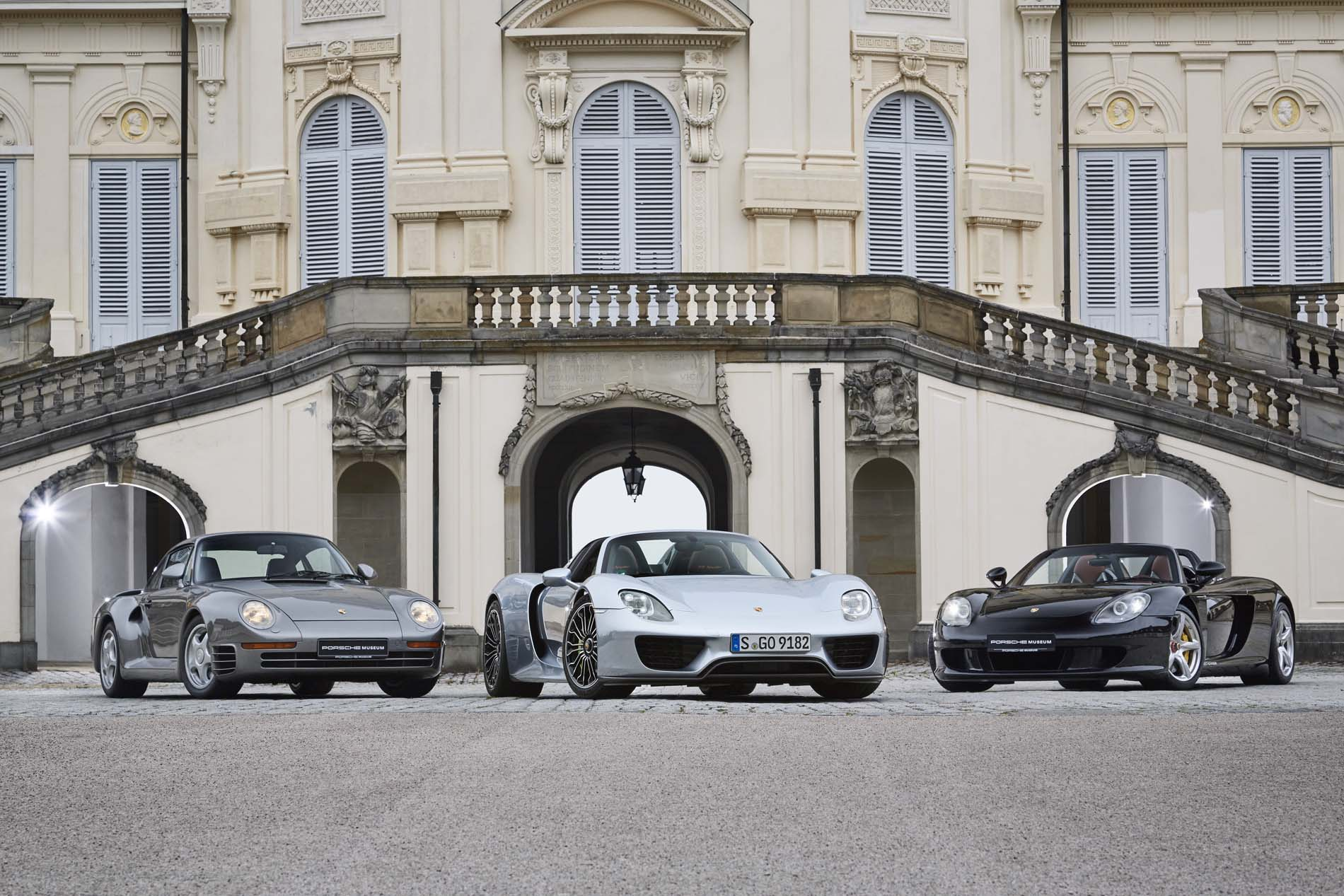 959, 918 Spyder, and Carrera GT