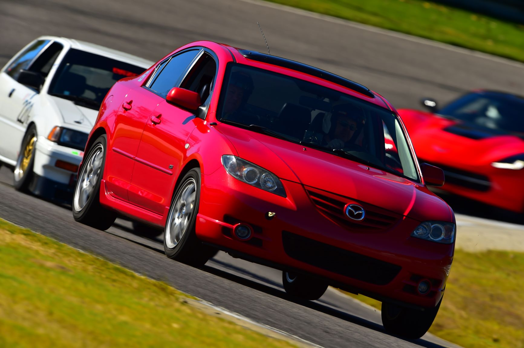 Jimmy's 2005 Mazda 3 S sedan on track