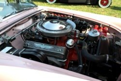 pink Ford Thunderbird engine
