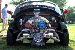 VW Beetle rat rod rear and engine